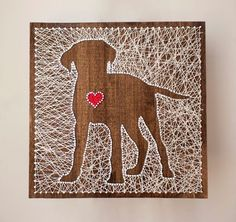 Puppy Love String Art from Crafty Creations Want to try your hand at DIY String Art Projects? Here is inspiration for a ton of gorgeous string art projects perfect for craft night! Nail String Art, String Crafts, String Art Heart, Resin Crafts, Hilograma Ideas, Arte Linear, Diy And Crafts, Arts And Crafts, July Crafts