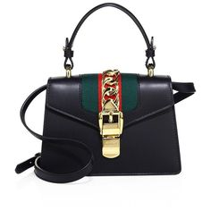 Gucci Mini Sylvie Leather Shoulder Bag ($2,250) ❤ liked on Polyvore featuring bags, handbags, shoulder bags, leather man bags, mini handbags, leather shoulder bag, gucci handbags and man shoulder bag
