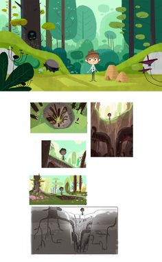 Characters and backgrounds of Floopaloo (Where are you? Cartoon Background, Animation Background, Art Background, Forest Illustration, Landscape Illustration, Digital Illustration, Environment Concept Art, Environment Design, Desenho Kids
