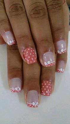 70 Trendy Spring Nail Designs are so perfect for this season Hope they can inspire you and read the article to get the gallery. Fingernail Designs, Toe Nail Designs, Fancy Nails, Pretty Nails, French Nail Art, French Polish, Nail Designs Spring, Cute Nail Art, Fabulous Nails