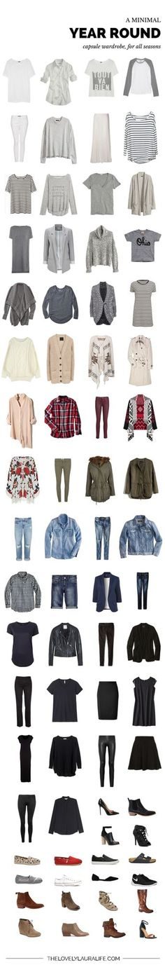 Waaaaaay back, I shared with you some things that weren't working about a seasonal capsule wardrobe for me, a few specific goals I had in mind for 2015 AND introduced the idea of creating an all seaso