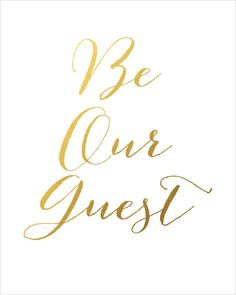Be Our Guest Printable INSTANT DOWNLOAD Printable by CraftMei