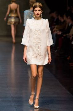 Minidress bianco Dolce & Gabbana