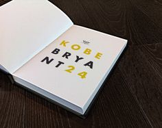 Kobe Bryant, the Book ! by Phil Caubit, via Behance