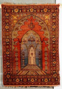Tappeto anatolico a preghiera, inizio XX secolo cm 232x135 from Cambi Casa d'Este