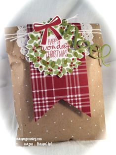 Wonderous Gift Bag, Stampin' Up!, Christmas