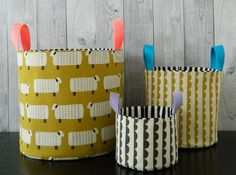 Nesting buckets pdf pattern / instant download  by sotakhandmade