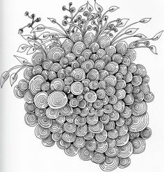 "Zentangle pattern called Printemps...I call my piece ""Grapes"""