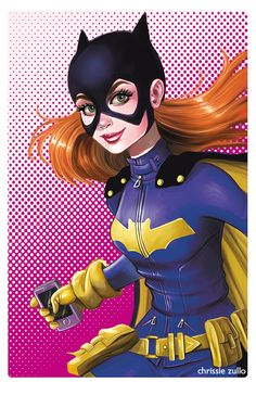 More Batgirl ! Just wanted to draw her again. Redhead love.   Chrissie Zullo