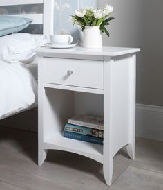 Image result for white bedside table
