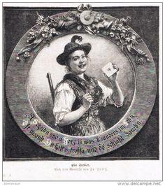 """Ein Treffer  -  Druck , entnommen aus """"die Gartenlaube"""", 1897"""
