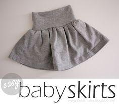 Upcycling Tutorial, aus altem Shirt wird Baby Rock - Nähen - Nesting: DIY Easy Baby Skirts