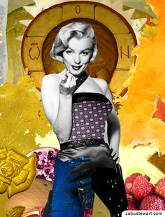 "Zabu Stewart - Digital Collage (2013) titled ""Golden Marilyn Monroe""  ::  http://society6.com/ZabuStewart/Golden-Marilyn-Monroe_Print"