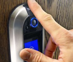 The Westinghouse Nucli Smart Lock gives you complete control over what happens at your door. Led Exterior Lighting, Biometric Lock, Safe Door, Home Technology, Home Security Systems, Home Automation, Smart Door Locks, Electronics Gadgets, Smart Technologies
