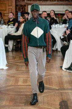 Men's green orange jacket
