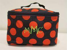Patterned Cosmetic Bag with Monogram  3 by MeadowCrestMonograms, $14.95