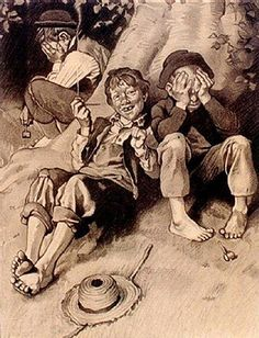 Norman Rockwell art for sale at Doubletake Gallery (encore editions, limited editions, posters). Along with Norman Rockwell art, you'll find hundreds of other fine art pieces for sale at Doubletake Gallery. Norman Rockwell Art, Norman Rockwell Paintings, Caricatures, Adventures Of Tom Sawyer, Illustrations, Beautiful Paintings, American Artists, Vintage Art, Pop Art