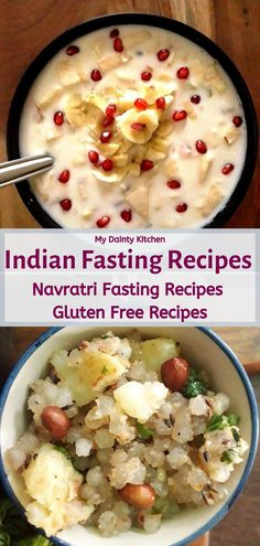 List of easy fasting recipes for navratri or any auspicious days. These are farali recipes. All recipes are gluten free made with sama chawal, kuttu flour, singhara flour, sabudana pearls etc. Quick And Easy Appetizers, Quick Easy Desserts, Easy Meals, Easy Indian Recipes, Gujarati Recipes, Navratri Recipes, Gujarati Food