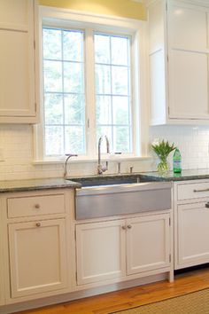 Stainless Steel Farmers Sink Design Ideas, Pictures, Remodel, and Decor - page 2