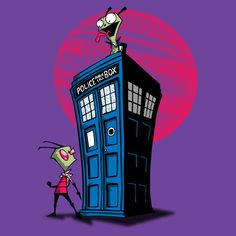 Invader Zim and the Tardis