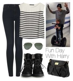 """""""Fun day with Harry"""" by lovatic92 ❤ liked on Polyvore featuring Topshop, Bruuns Bazaar, Marc by Marc Jacobs, Ray-Ban, OneDirection, harrystyles, directioner and onedirectionoutfits"""