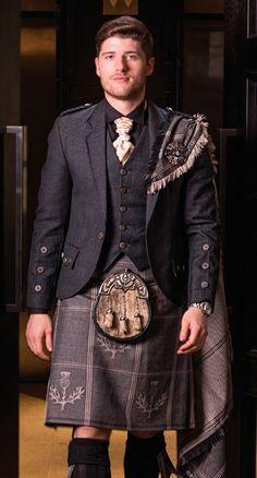 Strathearn Grey Jacket with matching waistcoat