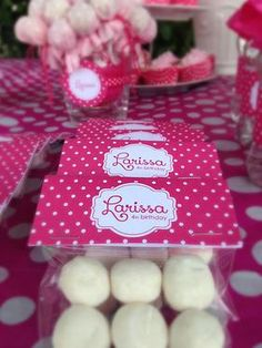 Pink polka dot sweet bag personalized favours