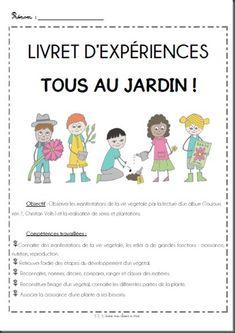 French garden project! Projet tous au jardin avec un livret d'expériences!