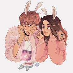 Commission I did a while ago of @albasnchezr and kookie ✨ // edit!: I saw many of you asking and I won't be able to do personal commissions until summer's over! I'm working on some projects right now from work so I don't really have much time! I'll let you guys know once I'm available again~