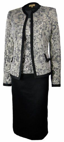 : Kasper Women's Jacquard Evening Skirt Suit