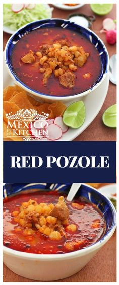 We usually eat this soup for dinner, and it's a classic dish in Mexican Fiestas during the cold nights of winter.