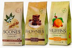 Sticky Fingers Premium All Natural Variety Sampler Trio Bundle Mix Cranberry Orange Muffin Chocolate Fudge Brownie Lemon Glazed Gingerbread Scone ** To view further for this item, visit the image link.(This is an Amazon affiliate link and I receive a commission for the sales)