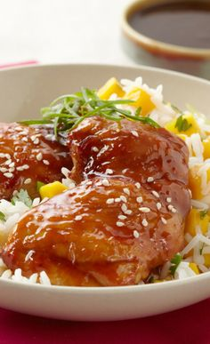 Hoisin Chicken Thighs.  See recipe here:http://www.fosterfarms.com/cookingcontest/Recipe2012_4.aspx #Take75 //