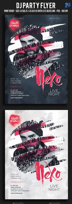 Dj #Party #Flyer - Clubs & Parties Events Download here: https://graphicriver.net/item/dj-party-flyer/19729372?ref=alena994