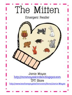 The Mitten FREEBIE Emergent Reader - - Re-pinned by @PediaStaff – Please Visit http://ht.ly/63sNt for all our pediatric therapy pins