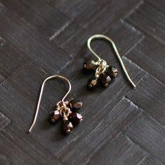Mignon | lucky in bronze earrings