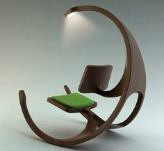 Just love this - imagine this for a reading chair. Not a wheelchair as the name suggest but a rocking chair. The Rocking Wheel-Chair Funky Furniture, Unique Furniture, Furniture Design, Furniture Ideas, Office Furniture, Decoupage Furniture, Porch Furniture, Recycled Furniture, Plywood Furniture