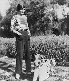 Gabrielle Chanel en pantalon