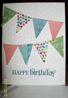 Happy Birthday Pennants  www.crazystampinglady.blogspot.com  Maureen Rauchfuss