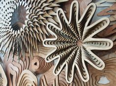 Intricately Cut Wood Blocks Pieced Together to Mimic the Blooming Beauty of Coral Reefs - My Modern Met