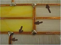 Great site- reinforcing stained glass panels Also good tips and articles with photos!