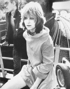 Viv Albertine of The Slits with Paul Simenon of The Clash.