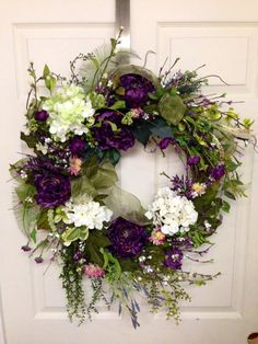 Spring Wreath Summer Wreath Wedding Shower Wreath by SterlingDecor, $65.00
