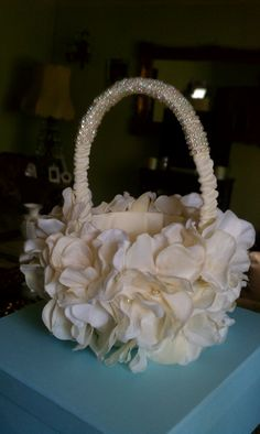 DIY flower girl basket...turned out amazing!!!