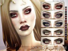 Dark eyeshadow in 15 colors, for all genders.  Found in TSR Category 'Sims 4 Female Eyeshadow'
