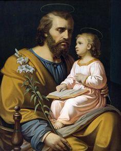 Catholic Gifts, Catholic Art, Religious Images, Religious Art, St Joseph, Jesus Father, Jesus Reigns, Catholic Pictures, Beautiful Prayers