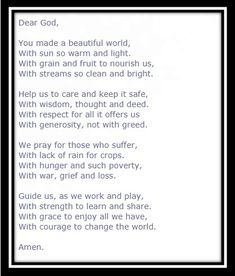 Get here the Thanksgiving prayer for the family. We have collection of short, long and printable thanksgiving prayers by family at dinner Thanksgiving Prayers, Printable Cards, Printables, Dear God, Beautiful World, Family Prayer, Wisdom, Thoughts, Dinner