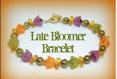 Lucite Flower Bead Bracelet Tulip / Lily of the Valley Lucite Flower Beads