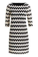 Fijngebreide jurk met zigzagmotief