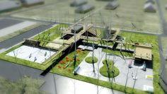Practice in architecture, urbanism and design Landscape Plane, Landscape Model, Urban Landscape, Landscape Design, Architecture Images, Landscape Architecture, Arch Model, Green Building, Urban Design